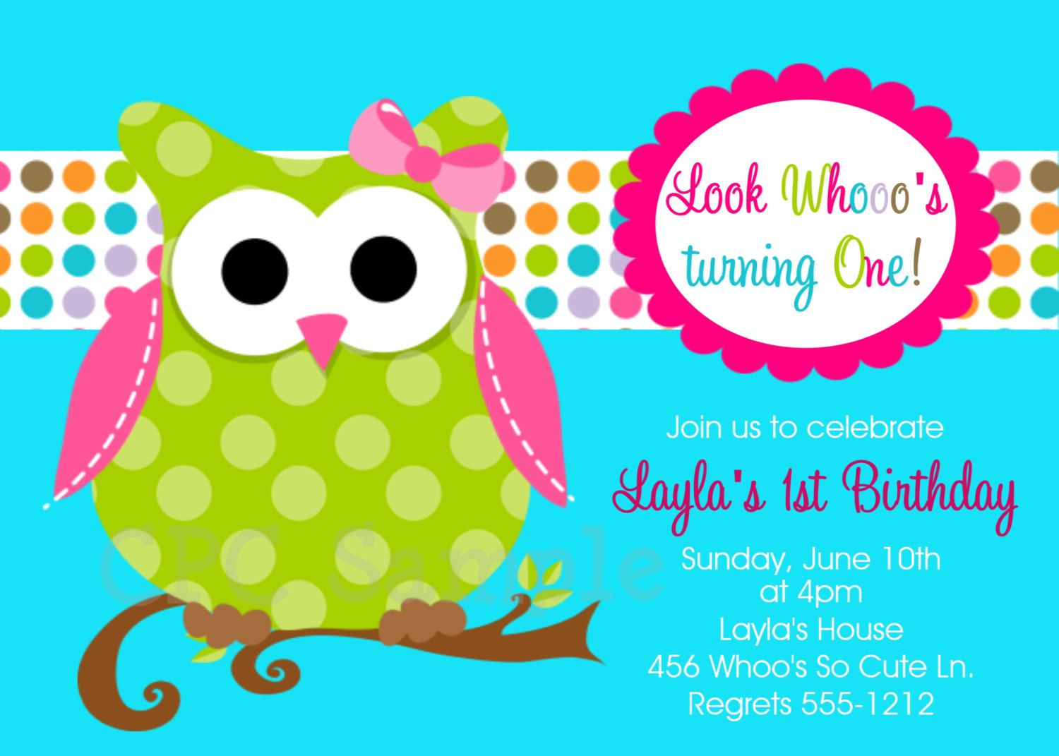 Owl Birthday Invitations Uk