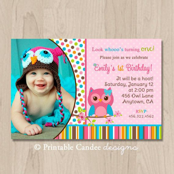 Owl Birthday Invitations Walmart