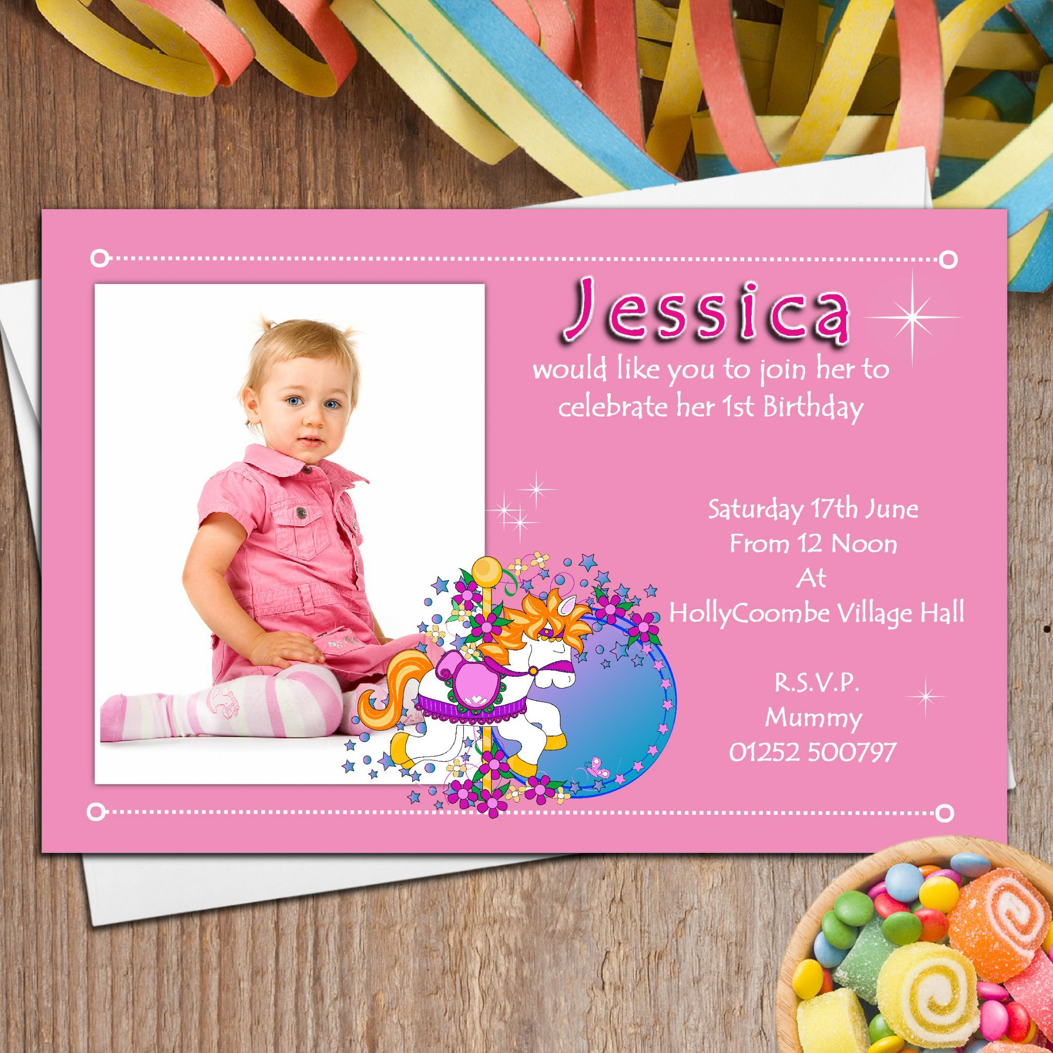 Personalized Birthday Invitations With Photo