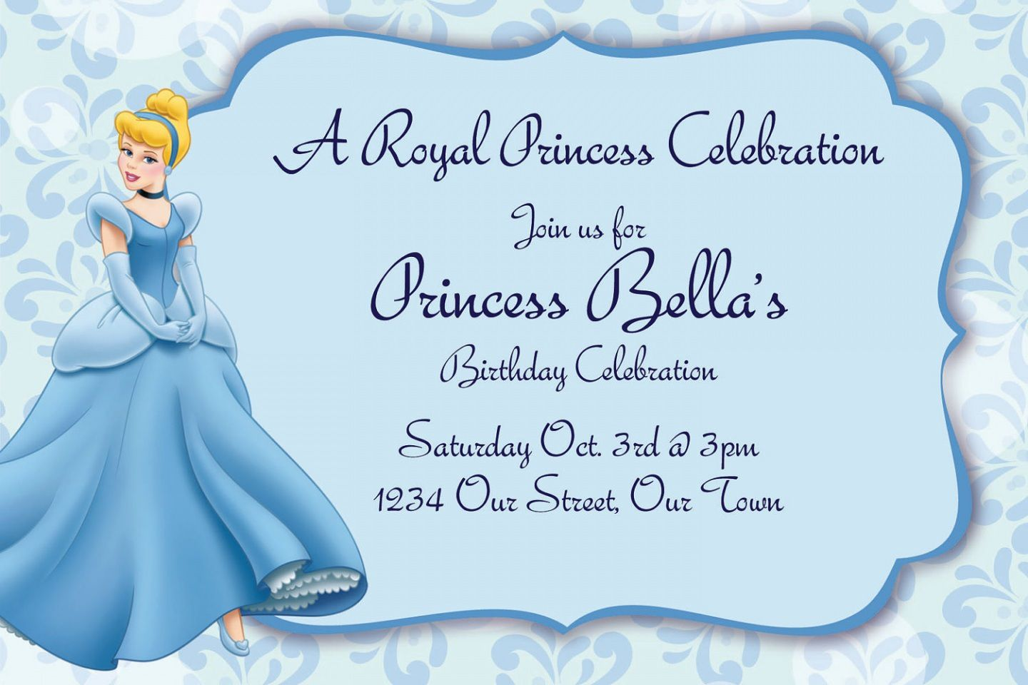 Personalized Cinderella Birthday Invitations
