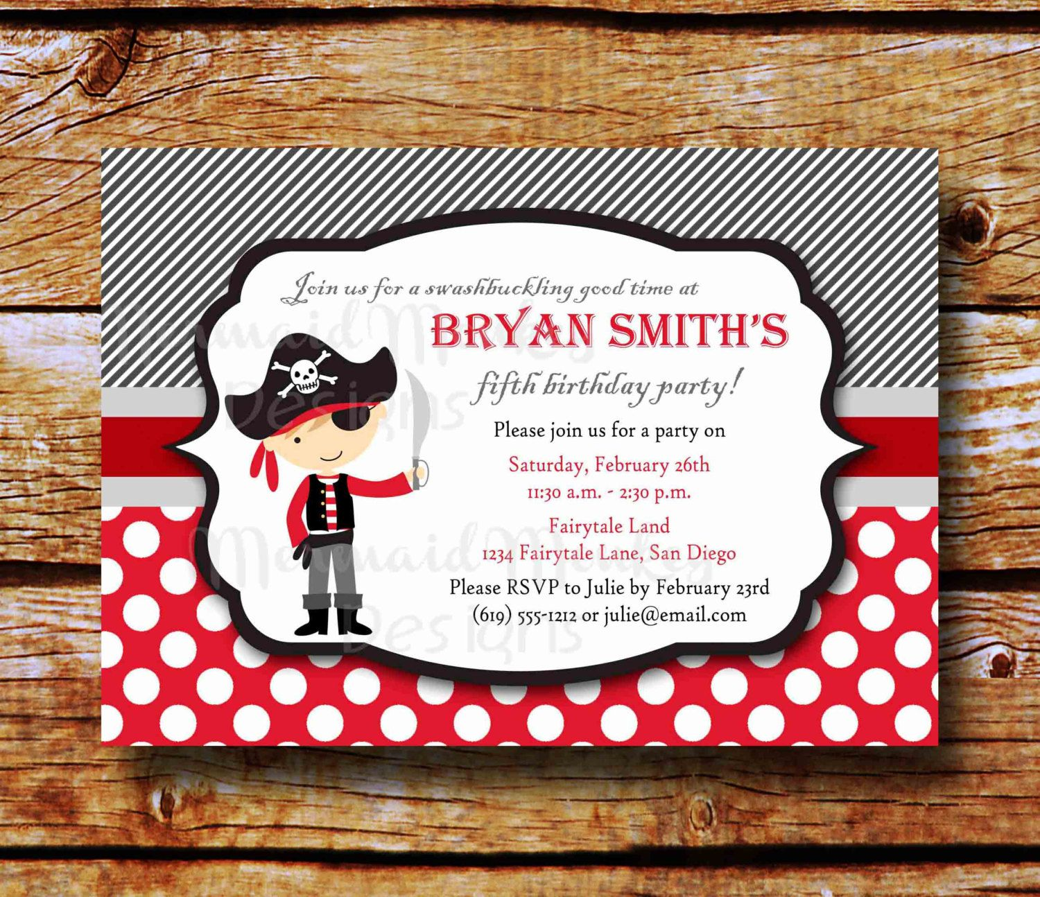 Pirate Birthday Invitations Walmart