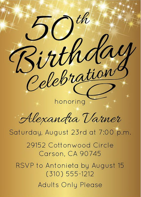 Surprise 50th Birthday Invitation Wording Ideas
