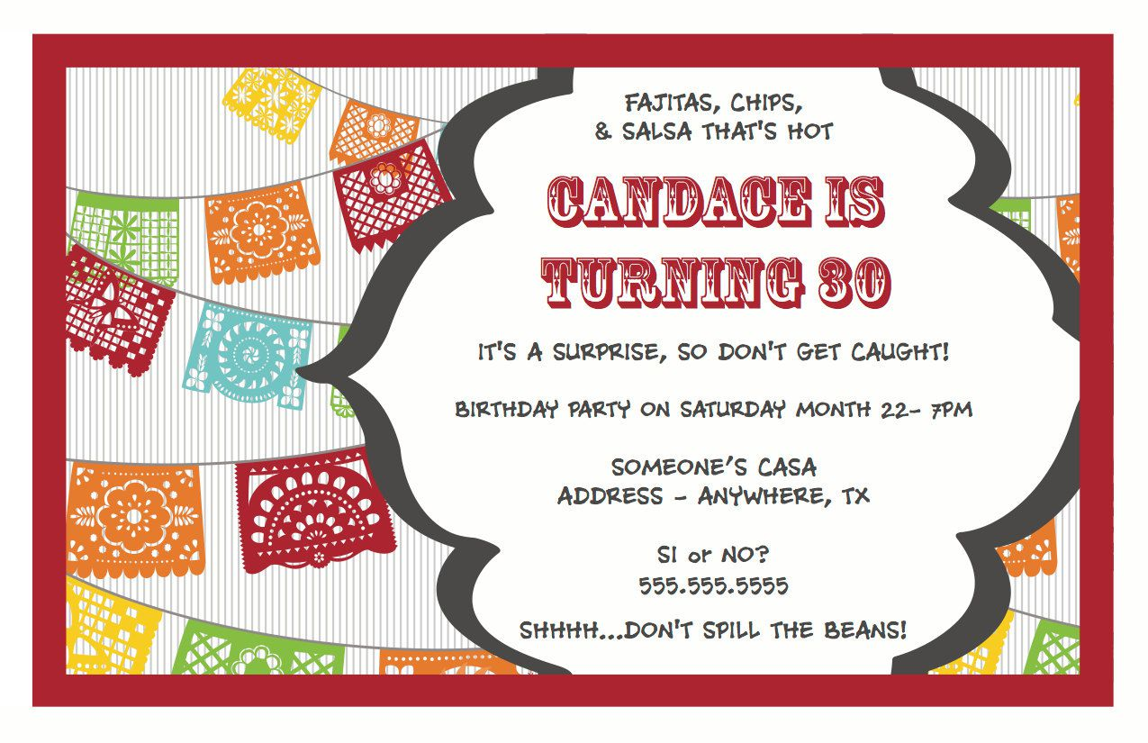 Surprise Birthday Party Invitations For Husband