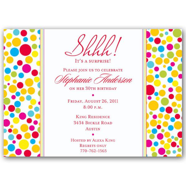 Surprise Birthday Party Invitations With Photo