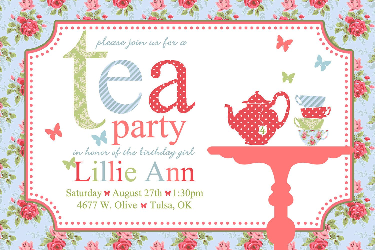 Tea Party Invitations Amazon