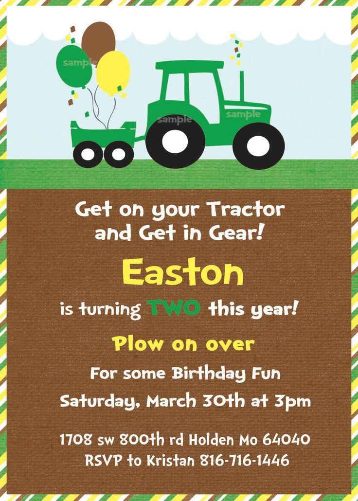 Tractor Birthday Invitations Walmart