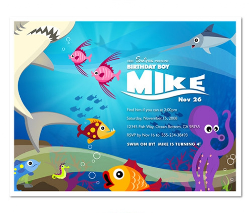 Under The Sea Birthday Invitations With Regard To [keyword