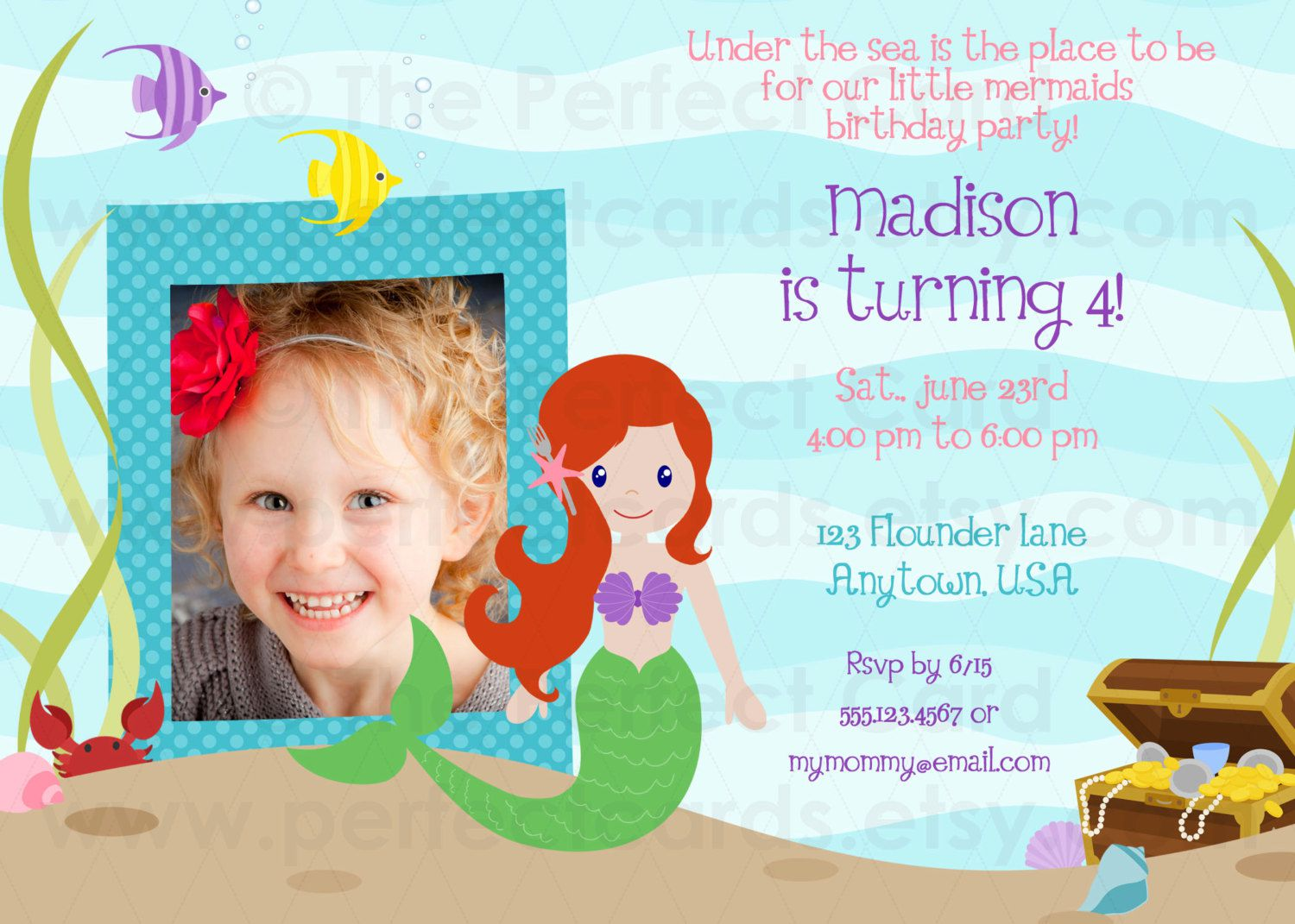 Under The Sea Birthday Invitations Free