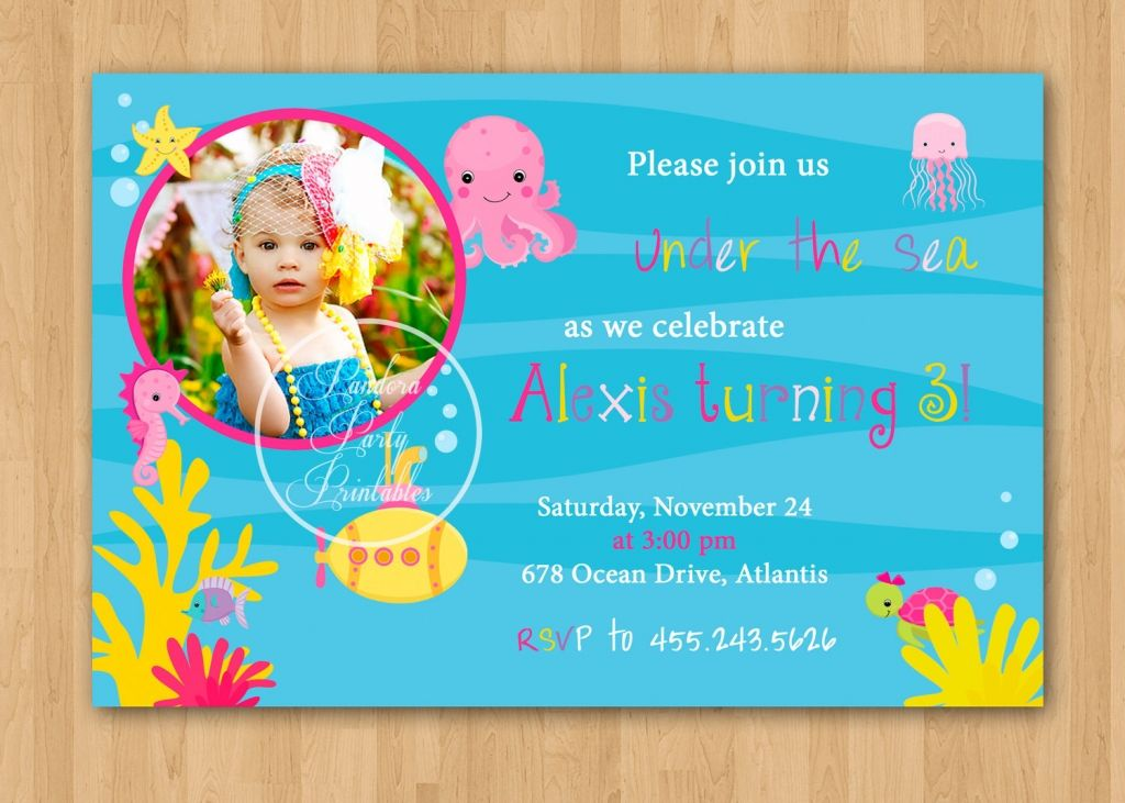 Under The Sea Boy Birthday Invitations