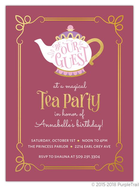 Afternoon Tea Birthday Party Invitations,girl Tea Party Birthday Invitations,little Girl Tea Party Birthday Invitations,tea Party Birthday Invitation Template