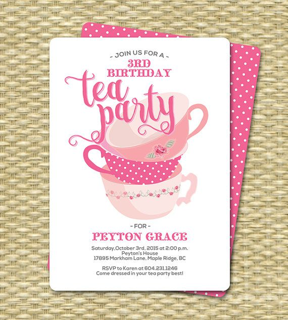 High Tea Birthday Party Invitations,90th Birthday Tea Party Invitations,50th Birthday Tea Party Invitations,mad Hatter Tea Party Birthday Invitations