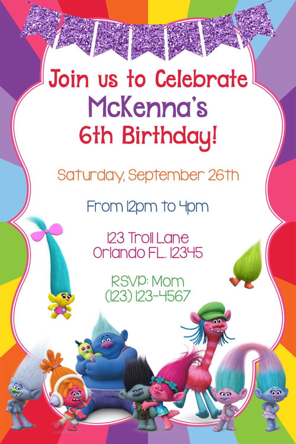 Lulu Party For Birthday Invitations