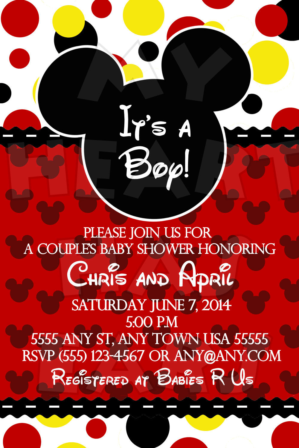 Mickey RSVP Birthday Party Invitations Ideas
